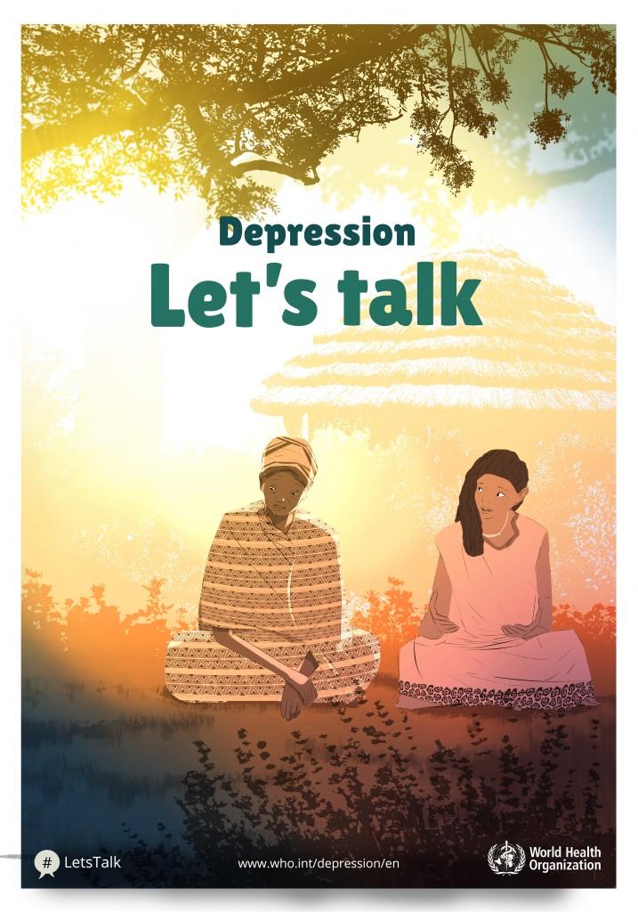 پوستر افسردگی در افریقا